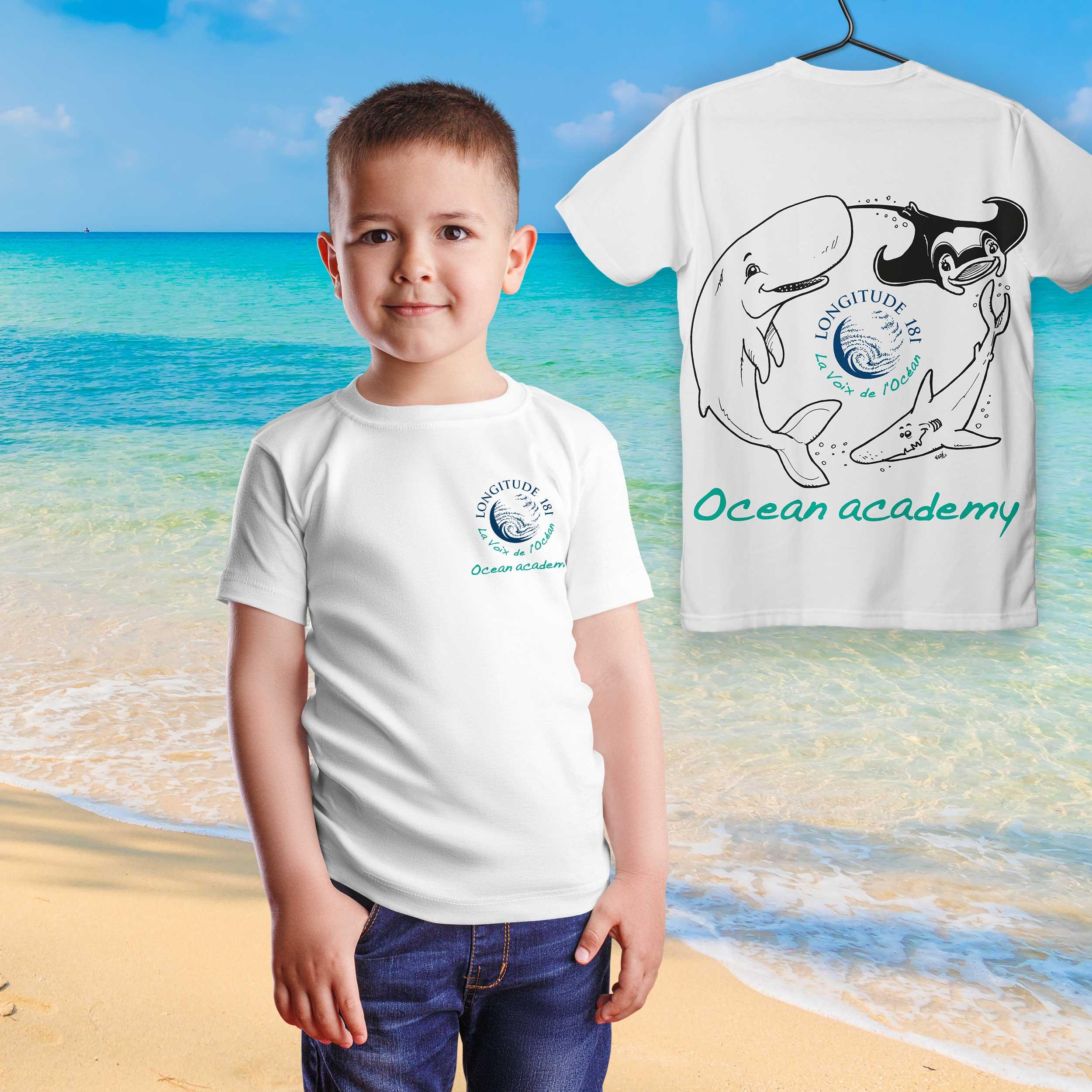 MESit Longitude T shirt enfant garcon ocean academy