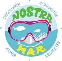 Logo Nostra Mar texte bleu b