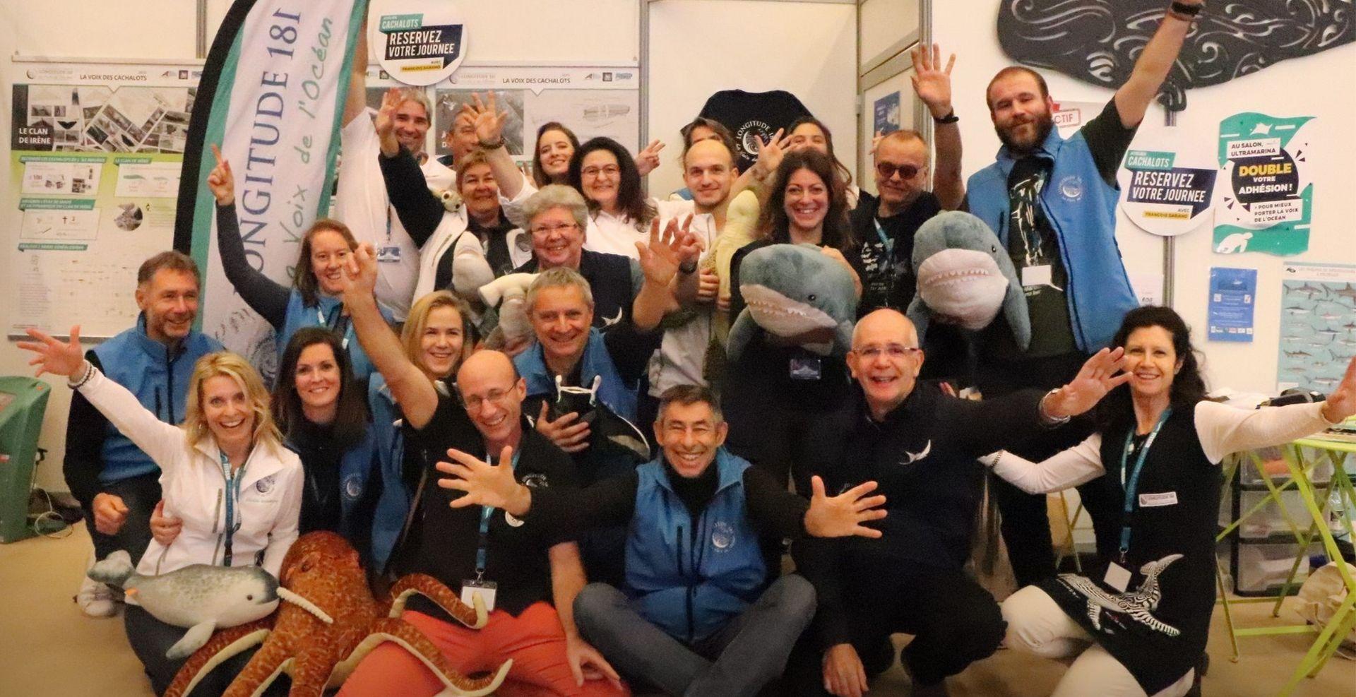 L'équipe de Longitude 181 au Salon de la Plongée